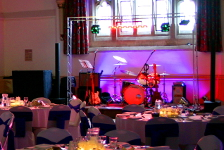 DJ with dance floor and band lighting Services